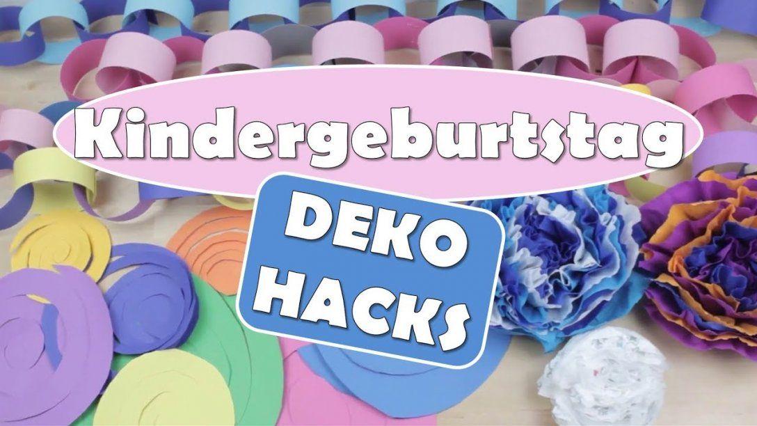 Kindergeburtstag  Deko Hacks  Diy Dekoration  Geburtstag  Deko von Tischdeko Kindergeburtstag Selber Basteln Bild