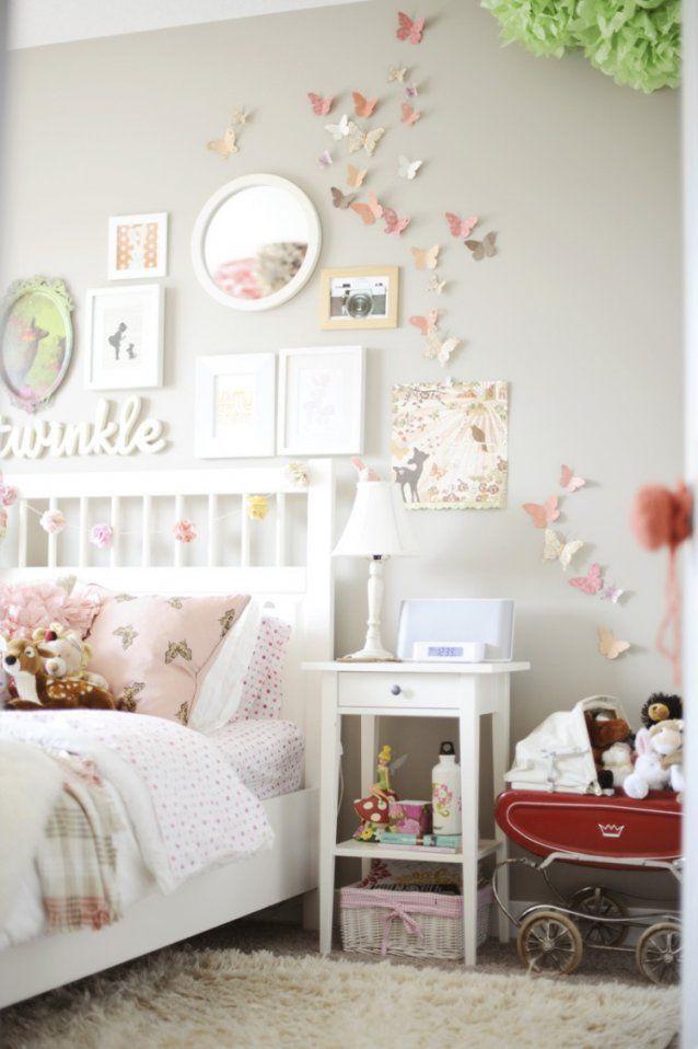Kinderzimmer Deko Selber Machen 55 Ideen Für Mädchen Avec von Schmetterlinge Wanddeko Selber Machen Photo