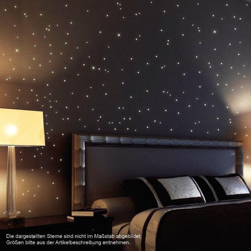 Kinderzimmer Sternenhimmel Mit Wandtattoo Loft 203 Fluoreszierende von Sternenhimmel Kinderzimmer Selber Bauen Photo