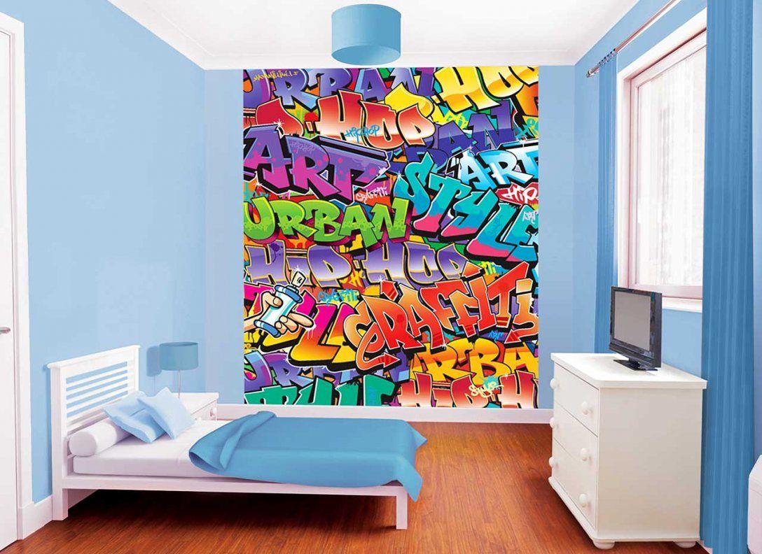 Kinderzimmer Wandgestaltung Jungs  Olegoff von Wandtattoo Jugendzimmer Jungen Graffiti Bild