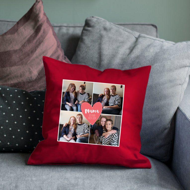 Kissen Muttertag Mit Eigenem Foto  Yoursurprise von Bettwäsche Mit Eigenem Foto Bild