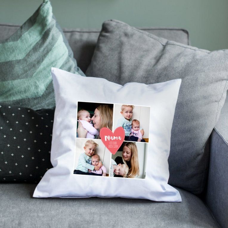 Kissen Muttertag Mit Eigenem Foto  Yoursurprise von Bettwäsche Mit Eigenem Foto Photo