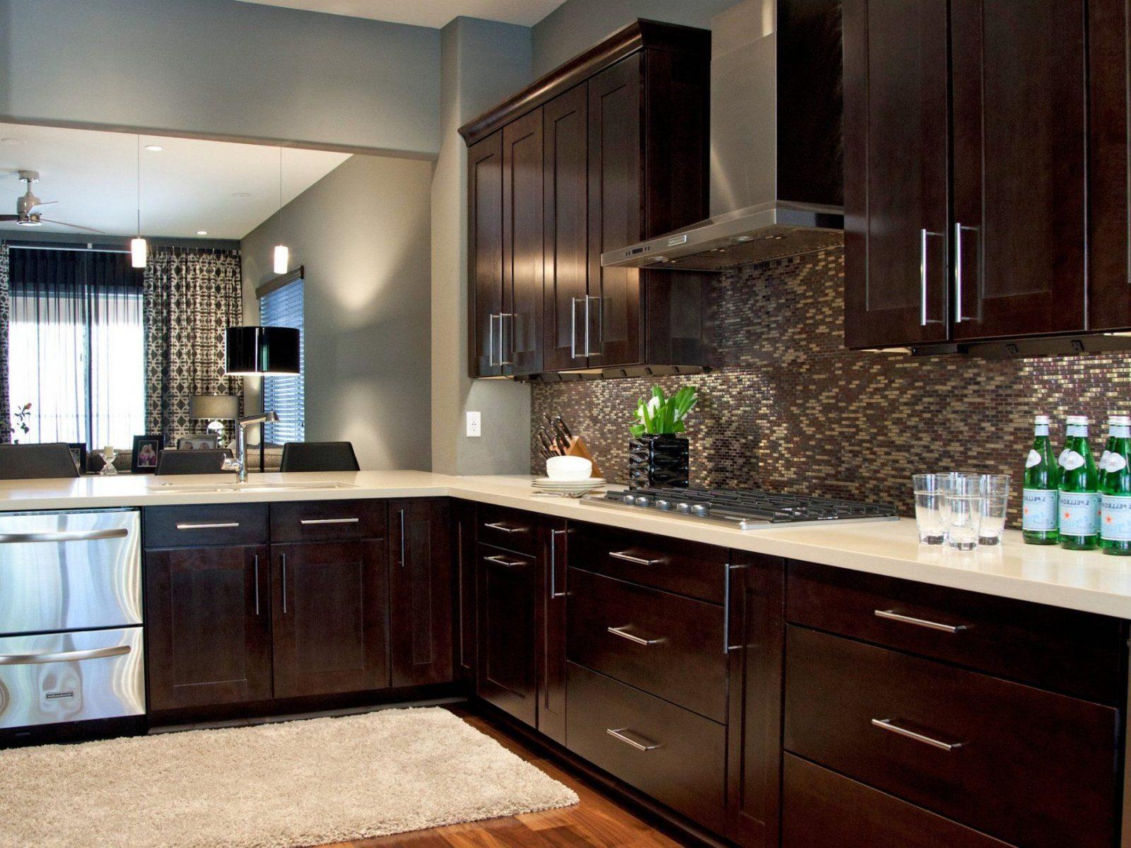Kitchen Paint Colors Espresso Cabinets With Grey Walls  Kutskokitchen von Backsplash For Espresso Cabinets Bild