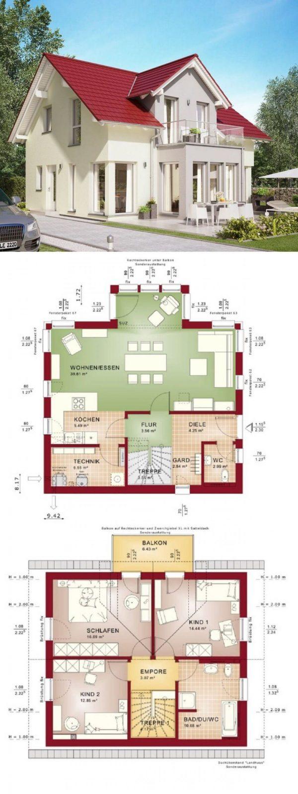 Klassisches Satteldach Haus Mit Zwerchgiebel Und Erker Anbau Mit von Bien Zenker Edition 1 Photo