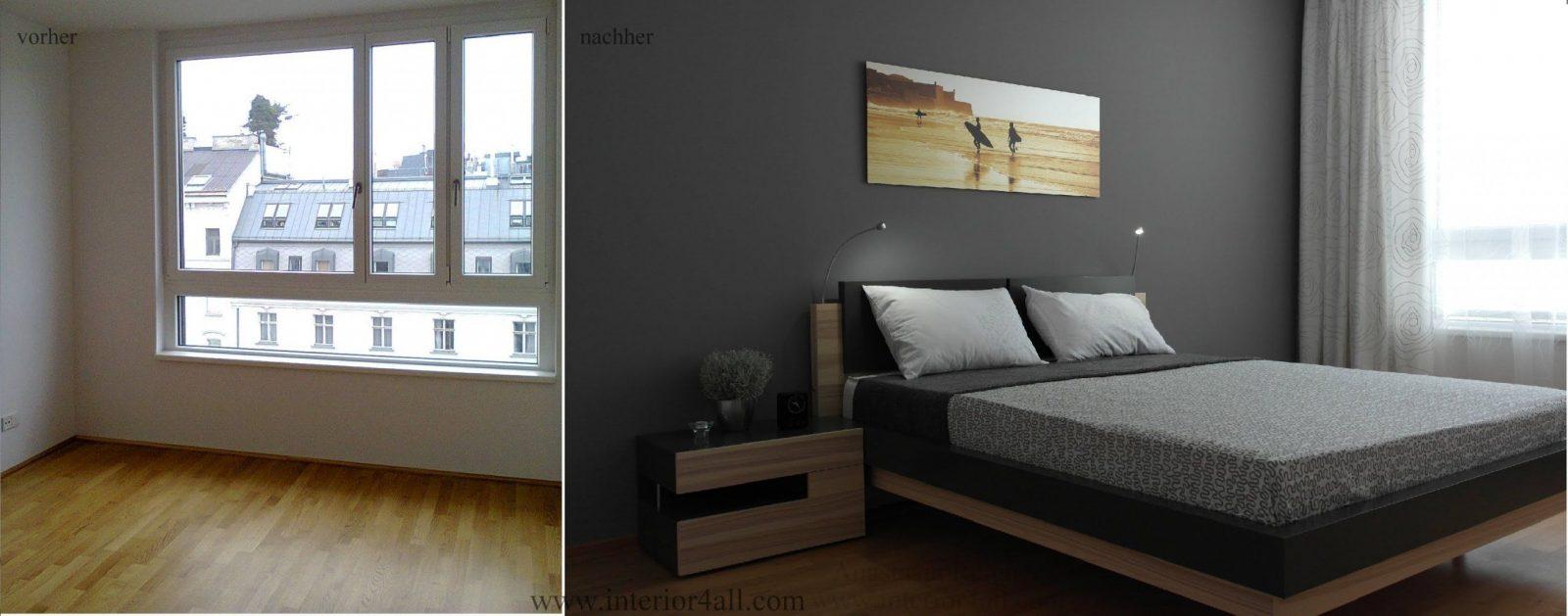 Kleine Räume Einrichten  Stilvolle Männer Schlafzimmer Vorher von Schlafzimmer Einrichten Kleiner Raum Photo
