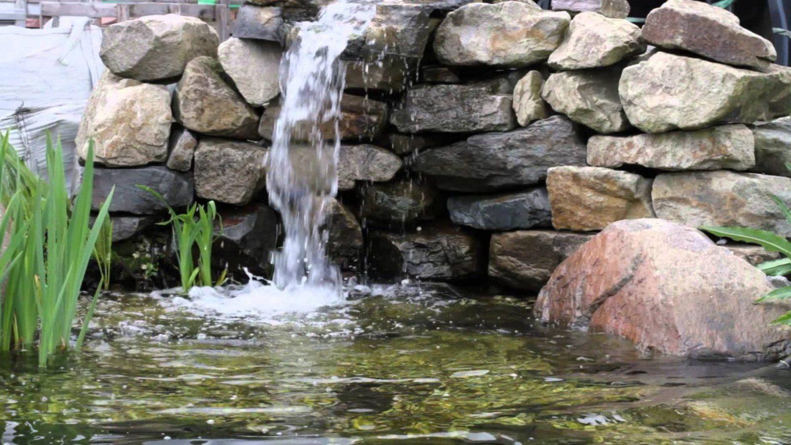 Kleiner Wasserfall  Youtube von Kleinen Wasserfall Selber Bauen Photo