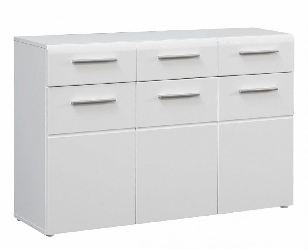 Kommode Slate 3 Türen 3 Schubladen Front Weiß Hochglanz von Kommode Weiß Hochglanz 6 Schubladen Bild