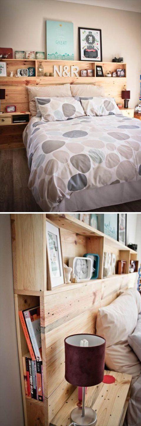 Kopfteil Für Bett Aus Europaletten Selber Bauen  Diy Anleitung von Kopfteil Für Bett Selber Bauen Bild