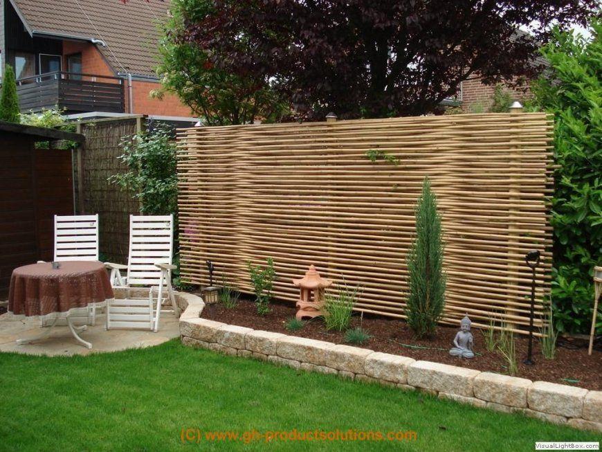 Kreativer Sichtschutz Selber Bauen Mit Bildergallery Bambus von Garten Sichtschutz Holz Schöner Wohnen Bild