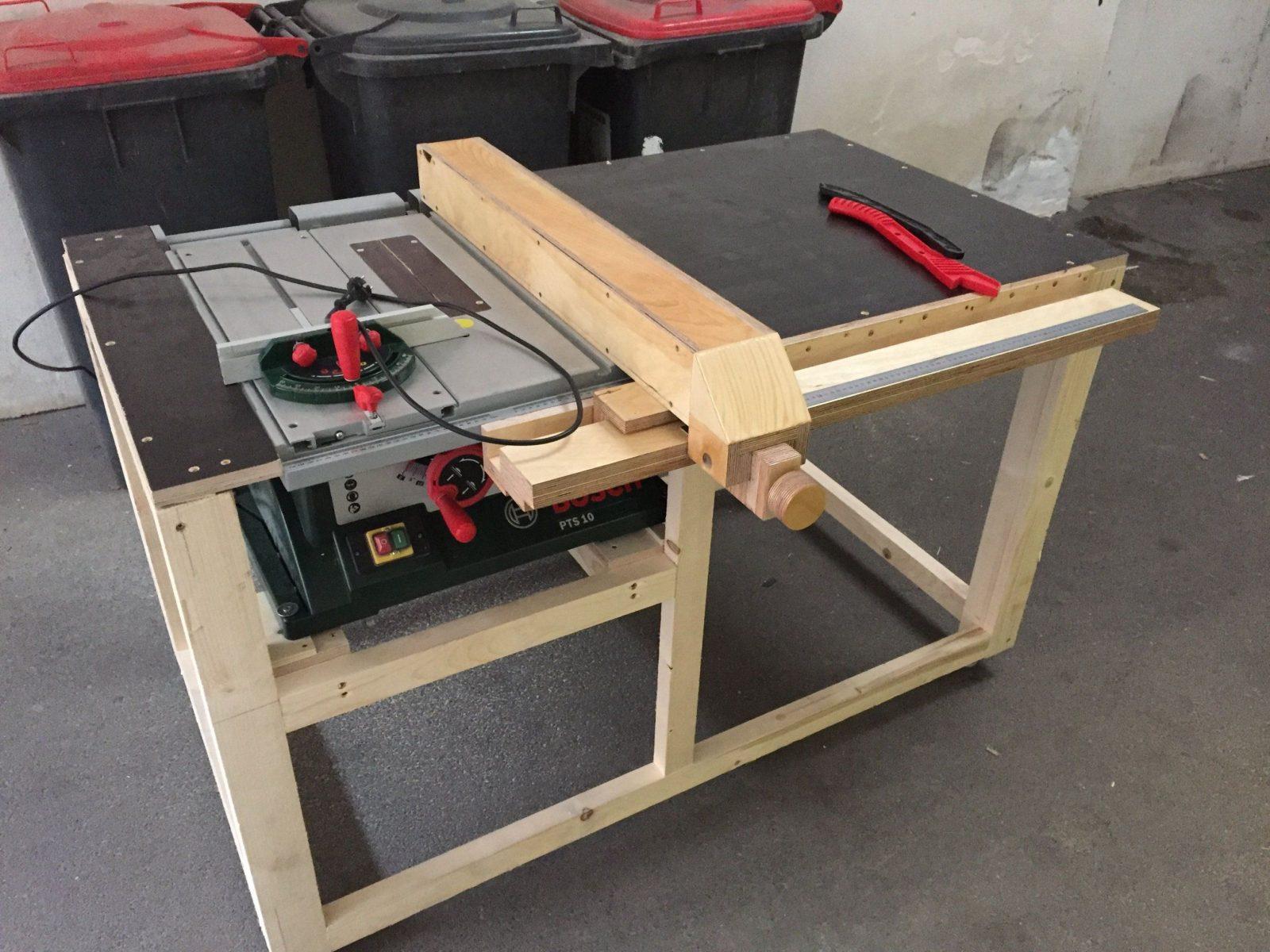 Kreissägetisch Für Bosch Pts 10 Bauanleitung Zum Selber Bauen von Untergestell Tisch Selber Bauen Photo