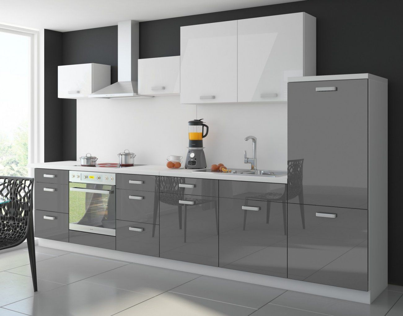Kuche  Arbeitsplatte Küche Günstig Obi Design Arbeitsplatte Küche von Küchenzeile Weiß Hochglanz Günstig Bild