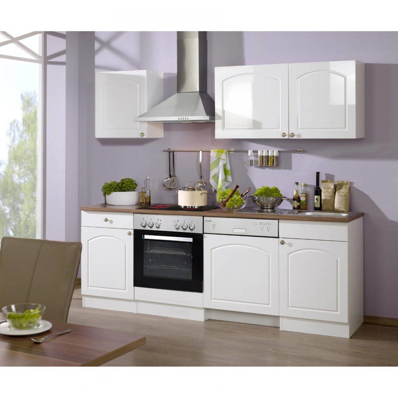 Küchen Bis 220 Cm von Küchenzeile Weiß Hochglanz Günstig Bild