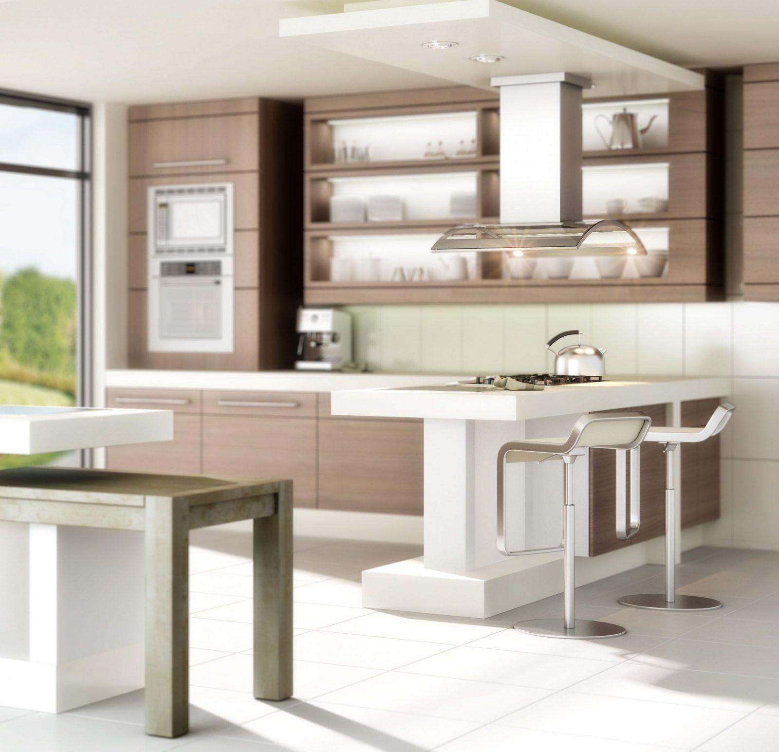 Küchen Impulse Ideen Ratgeber  Wohnküche von Küche Mit Theke Ideen Bild