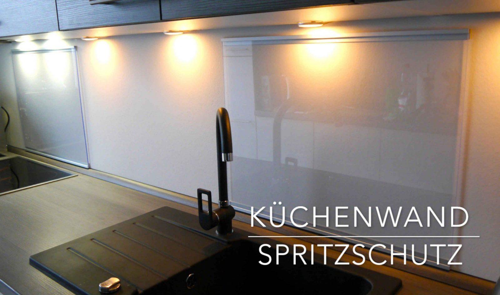 Küchen Wand Spritzschutz Aus Plexiglas  Selber Bauen  Anleitung von Wandverkleidung Küche Selber Machen Bild