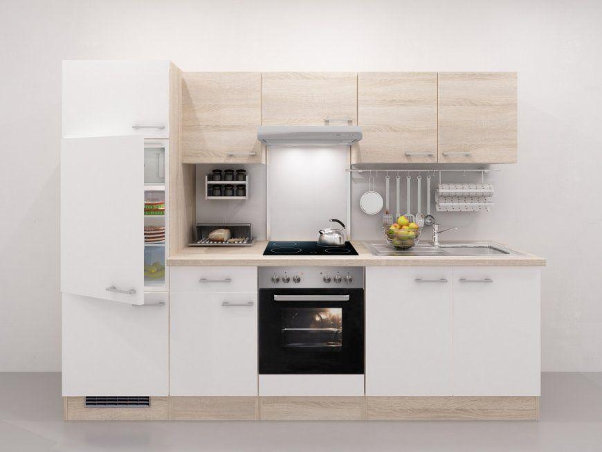 Küchenzeile 270 Cm Mit & Ohne Geräte Kaufen  Smartmoebel von Komplett Küchen Unter 1000 Euro Bild