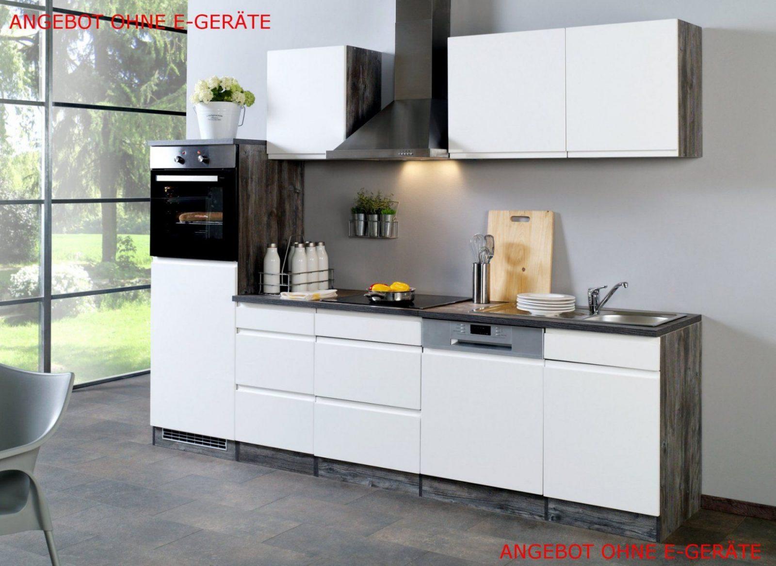 Küchenzeile Cardiff  Küchenleerblock  Breite 280 Cm  Hochglanz von Küchenzeile Mit Geschirrspüler Ohne Kühlschrank Bild