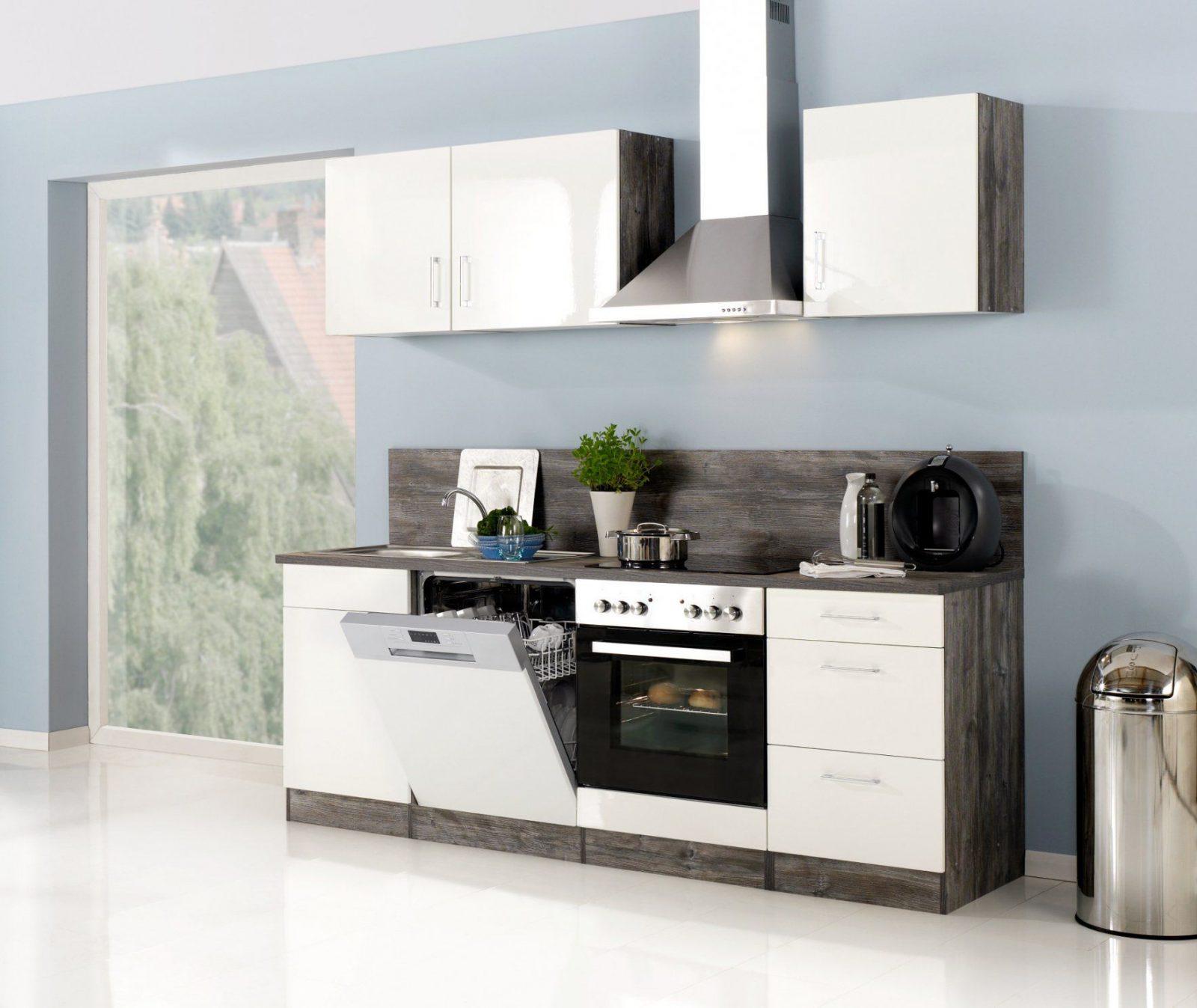 Küchenzeile Lissabon  Küche Mit Egeräten  Breite 220 Cm von Küchenzeile 220 Cm Ohne Geräte Photo