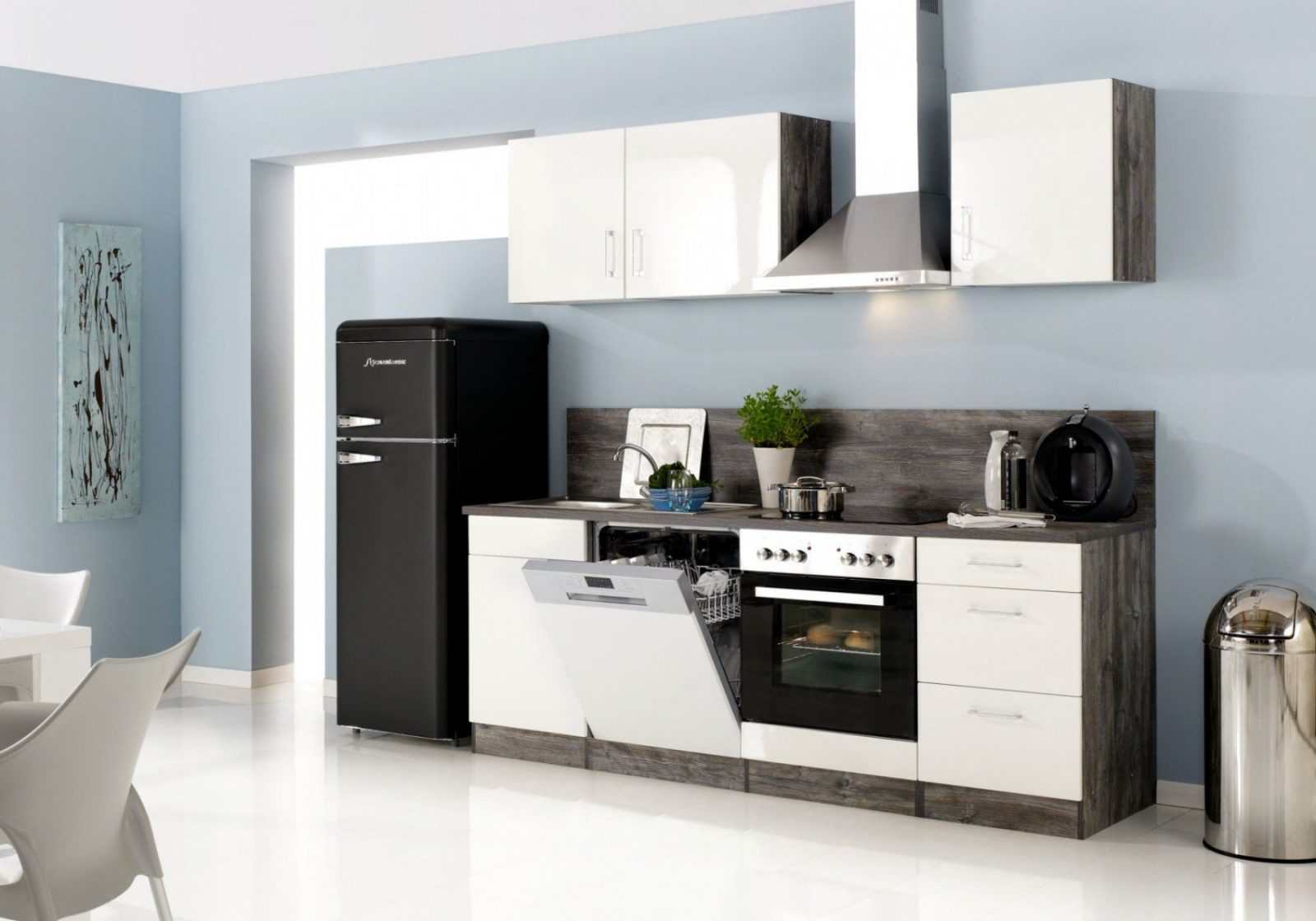 Küchenzeile Lissabon  Küche Mit Egeräten  Breite 280 Cm 14 von Küchen Günstig Mit E Geräten Bild