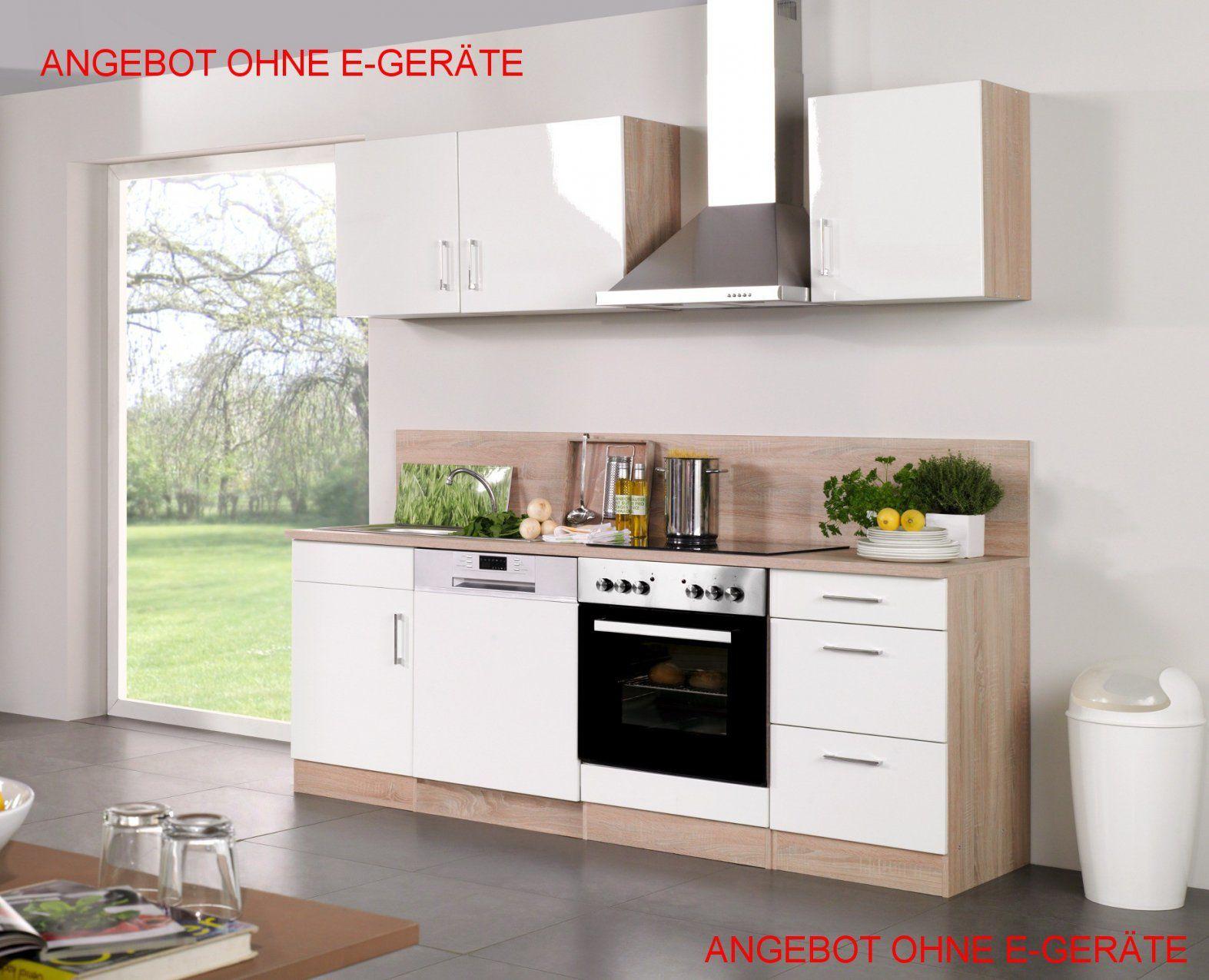 Küchenzeile Ohne Elektrogeräte von Küchenzeile 220 Cm Ohne Geräte Bild