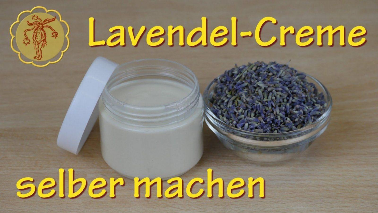 Lavendelcreme Selber Machen  Für Unreine Gereizte Haut  Youtube von Lavendel Creme Selber Machen Bild
