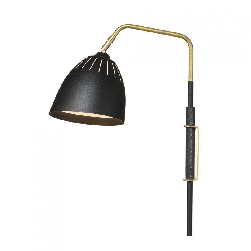 Lean Wandlampe (Kabel) Messingschwarz  Jenny Bäck  Örsjö von Wandlampen Mit Schalter Und Kabel Photo