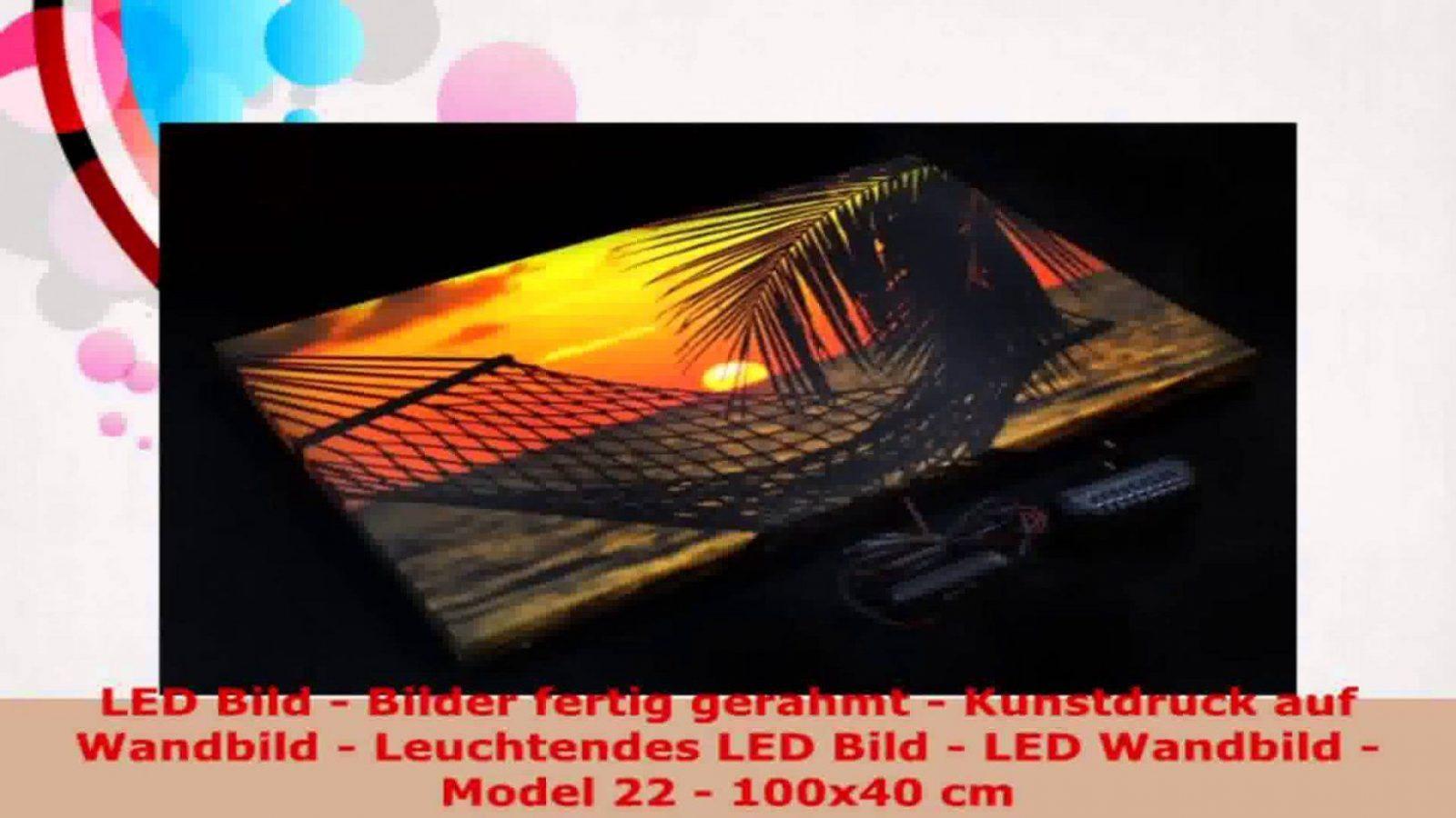 Led Bild Bilder Fertig Gerahmt Kunstdruck Auf Wandbild Leuchtendes von Led Leinwandbild Selber Machen Photo