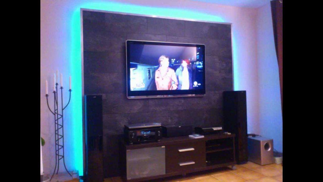 Led Tv Wand Selber Bauen Cinewall Do It Yourself  Youtube von Fernseher Wand Selber Bauen Bild