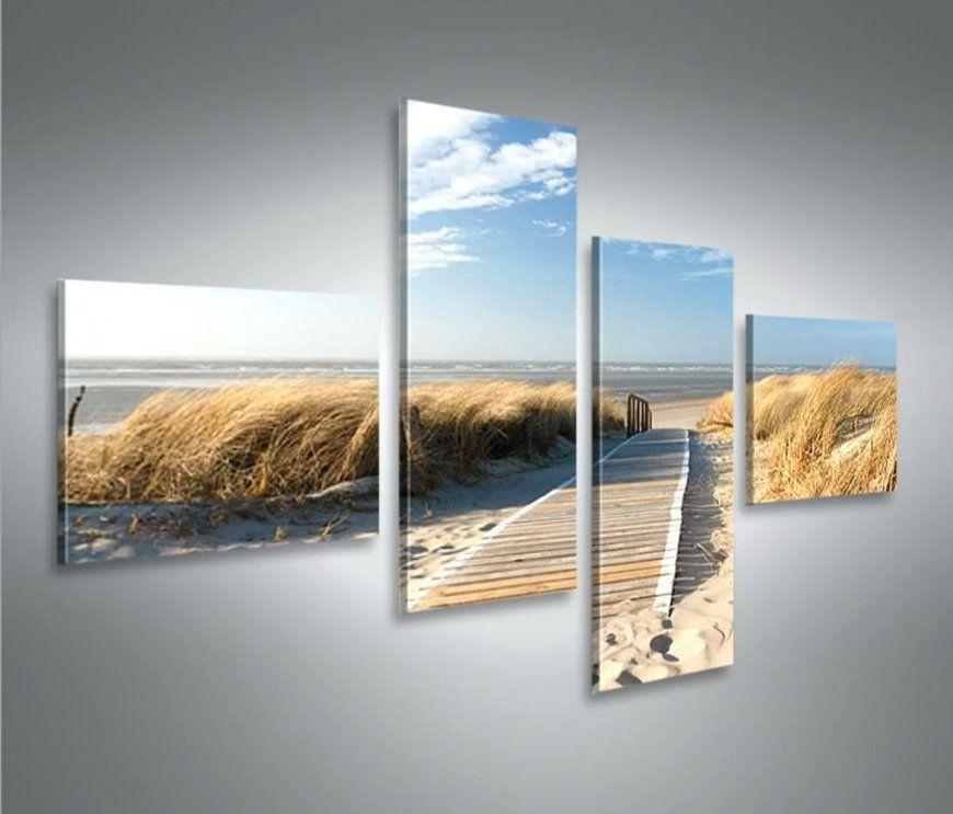 Leinwand Mehrteilig Bilder Auf Strand 4L Da 1 4 Nen Nordsee Real von Leinwand Mehrteilig Selbst Gestalten Photo