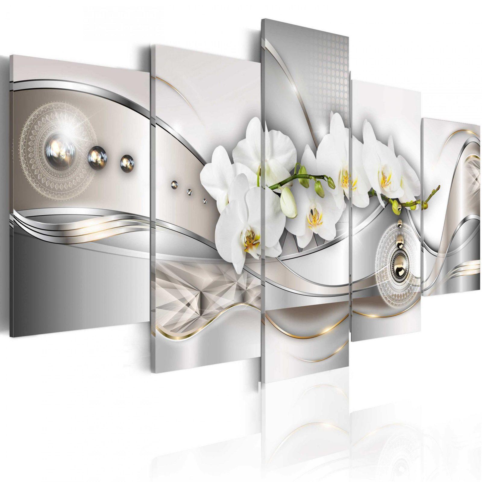 leinwand bilder xxl kunstdruck wandbild blumen orchidee abstrakt von leinwandbilder xxl 5 teilig. Black Bedroom Furniture Sets. Home Design Ideas