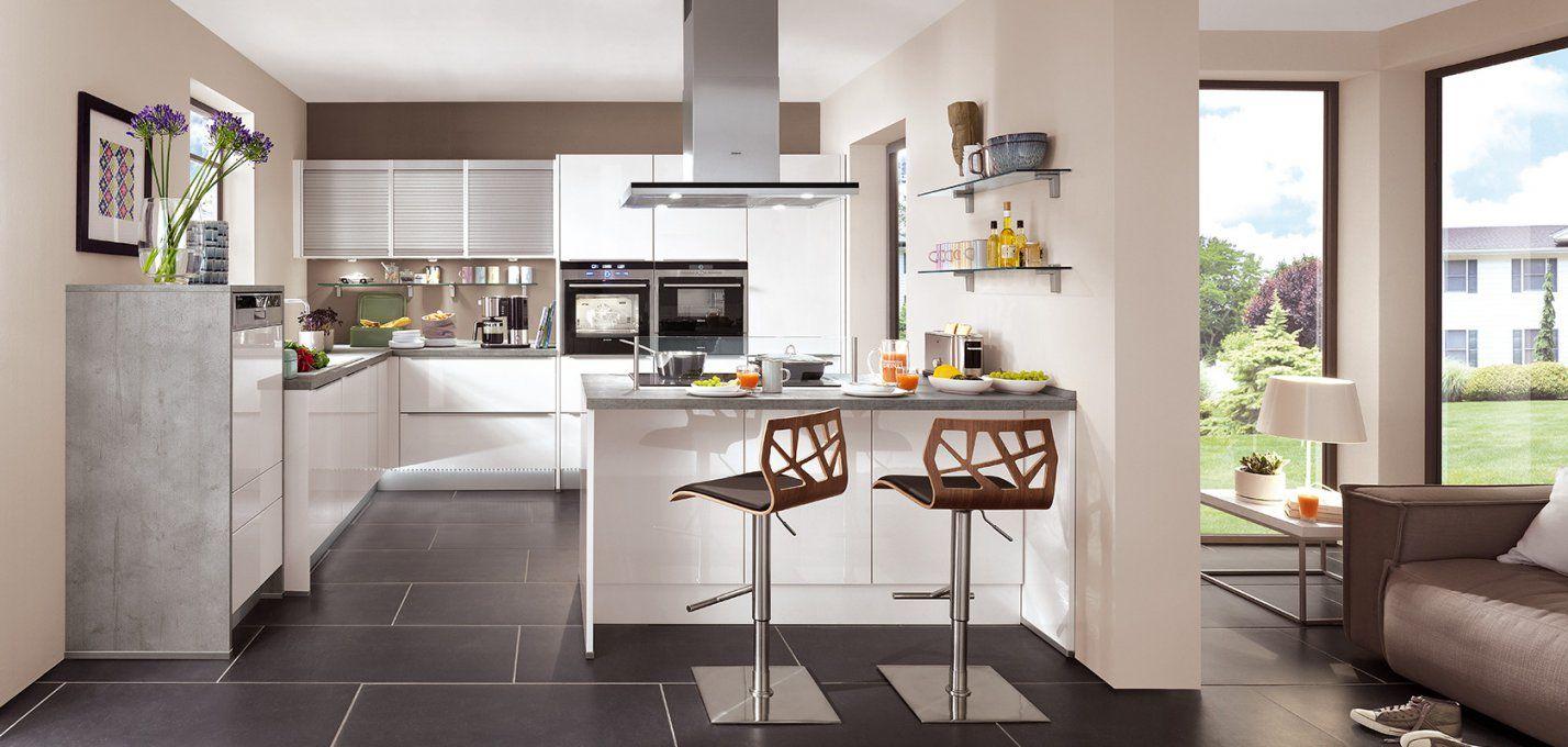 Lux 814 Weiß Hochglanz (Moderne Küchen)  Nobilia Küchen von Moderne Küche Hochglanz Weiss Photo