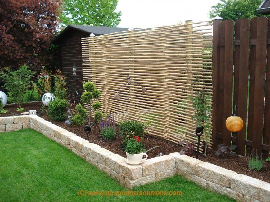 Luxus Zaun Garten  Einzigartige Ideen Zum Sichtschutz von Kleiner Zaun Für Vorgarten Bild