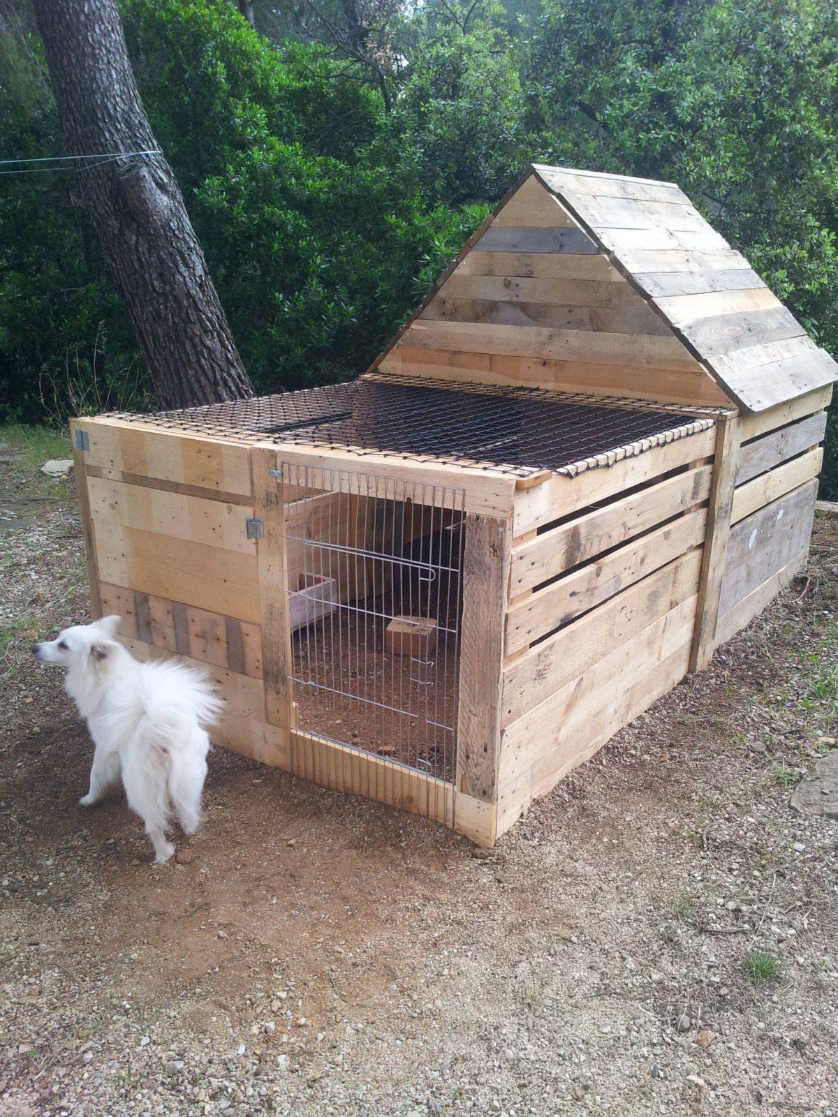 Maisonnette Pour Lapin  Pallet Rabbit's House  Hasenstall Hase von Kaninchen Spielplatz Selber Bauen Bild