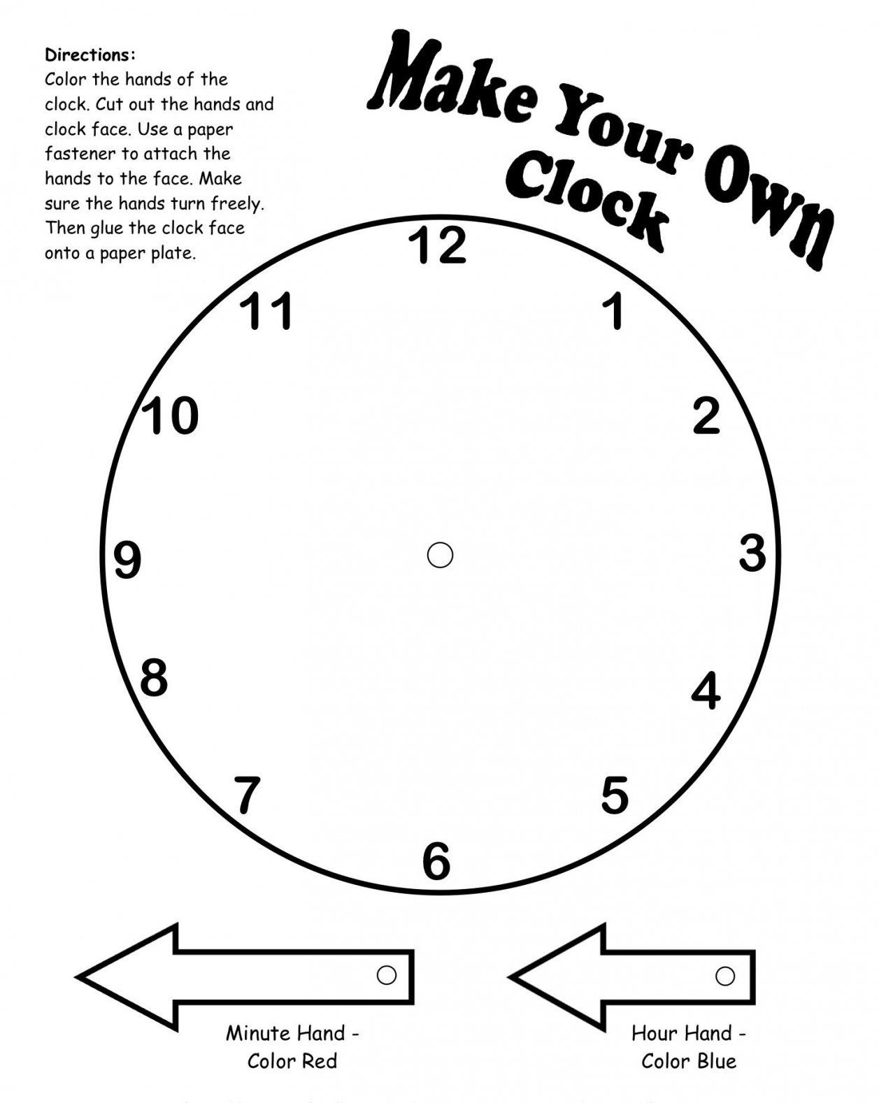 Make Your Own Clock Printable  Placement  Pinterest  Onderwijs von Make Your Own Clock Photo