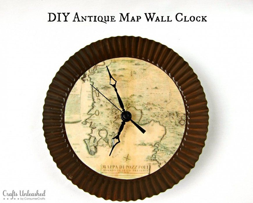 Make Your Own Clock With An Antique Map Theme von Make Your Own Clock Photo