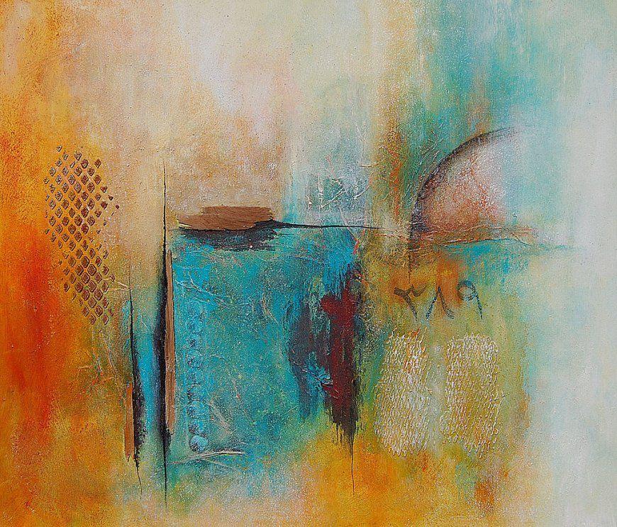 Malenzeichnen Lernen  Malen Lernen Acrylmalerei  Abstrakte von Acrylbilder Mit Strukturpaste Anleitung Photo