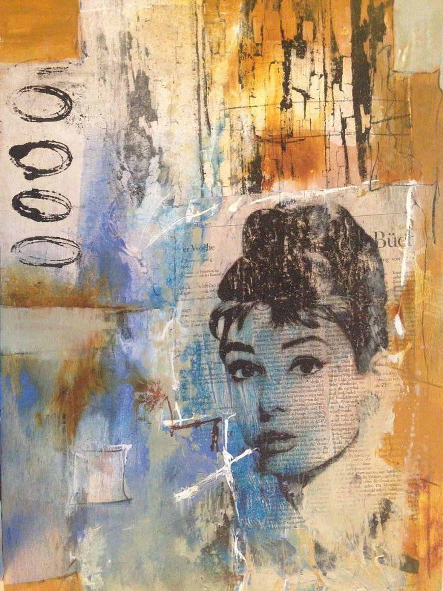 Malenzeichnen Lernen  Malen Lernen Acrylmalerei  Goldersatz von Acrylbilder Mit Strukturpaste Anleitung Photo