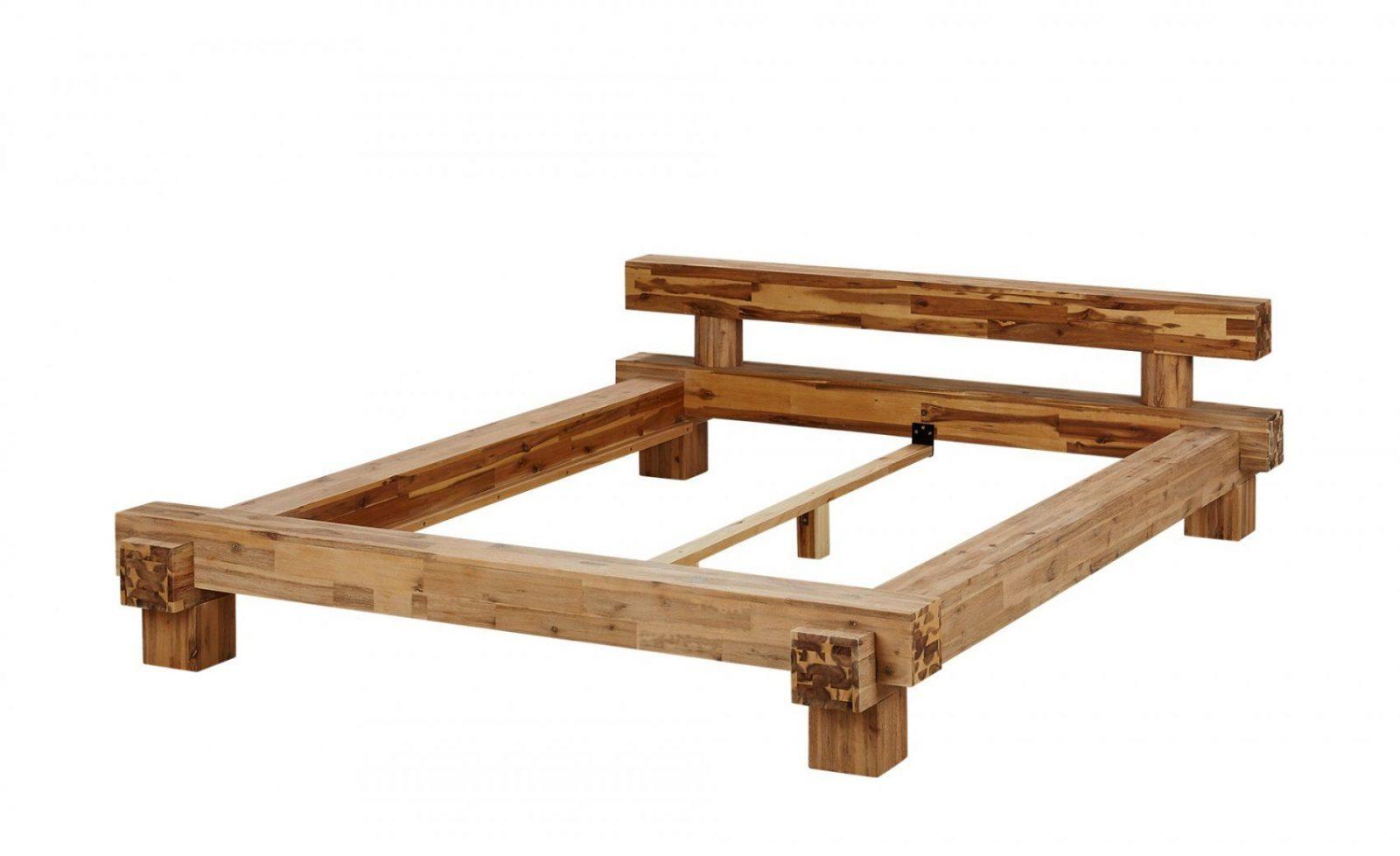 Massivholzbettgestell 160X200  Akazie Brent  140 Cm von Bett Aus Balken Bauanleitung Photo