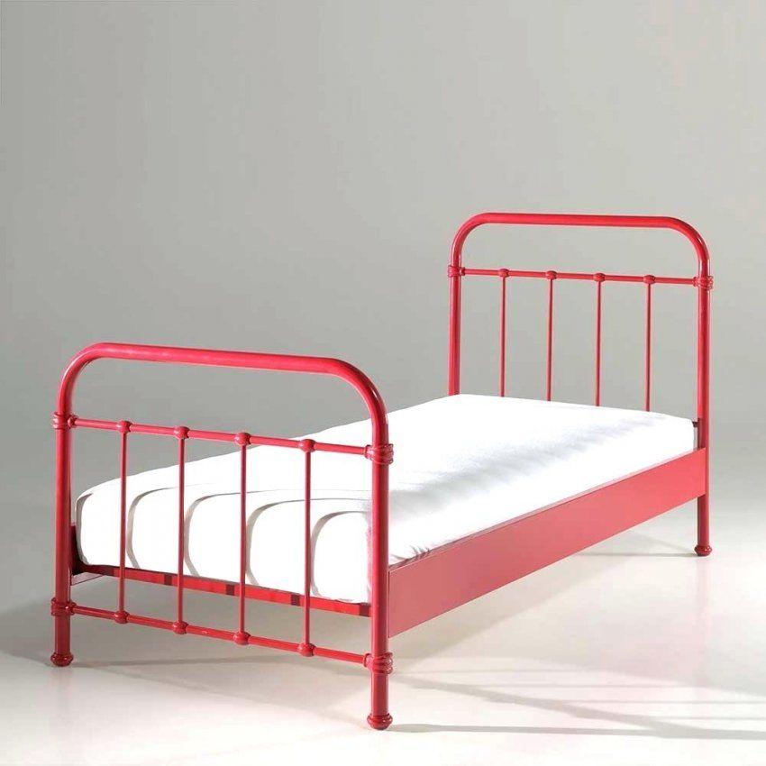 Metallbett 90×200 Metallbett Lecce In Rot Mit Lattenrost Bett 90×200 von Metallbett 90X200 Weiß Ikea Bild