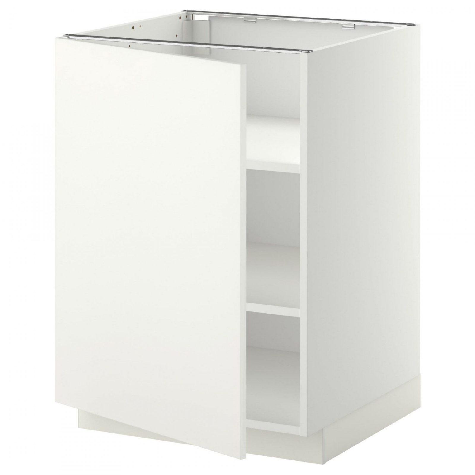Metod Base Cabinet With Shelves  White Häggeby White 60X60 Cm  Ikea von Spülenunterschrank 50 Cm Ikea Photo
