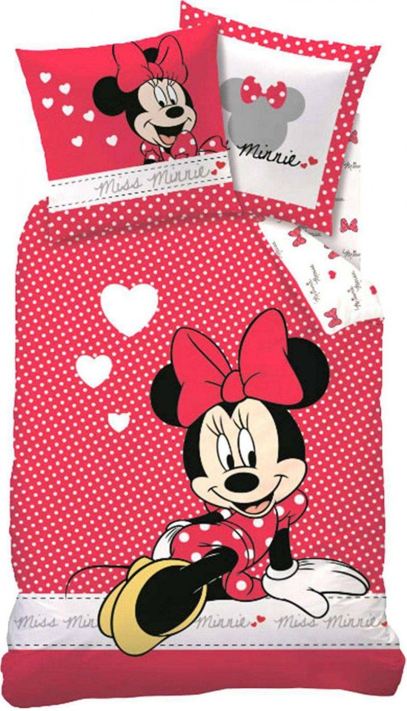 Mickey Minnie Bettwaesche Sets  Dibinekadar Decoration von Bettwäsche Minnie Mouse 100X135 Photo