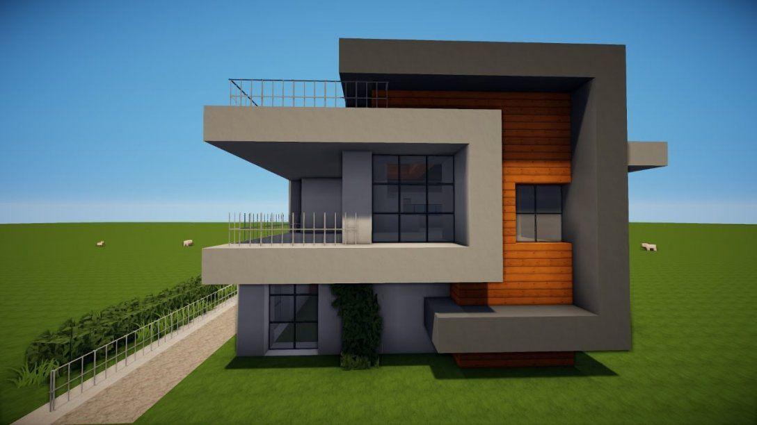 Minecraft Modernes Haus Mit Minecraft Modernes Haus Bauen Tutorial von Minecraft Modernes Haus Bauplan Photo
