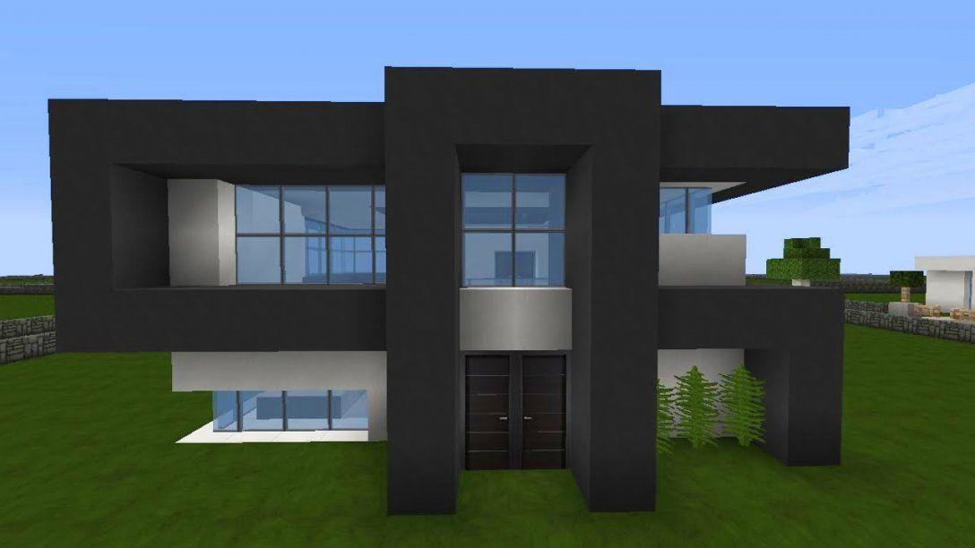 Minecraft Modernes Haus Mittwoch  Grauweiß Bauen  Tutorial von Minecraft Häuser Zum Nachbauen Anleitung Photo
