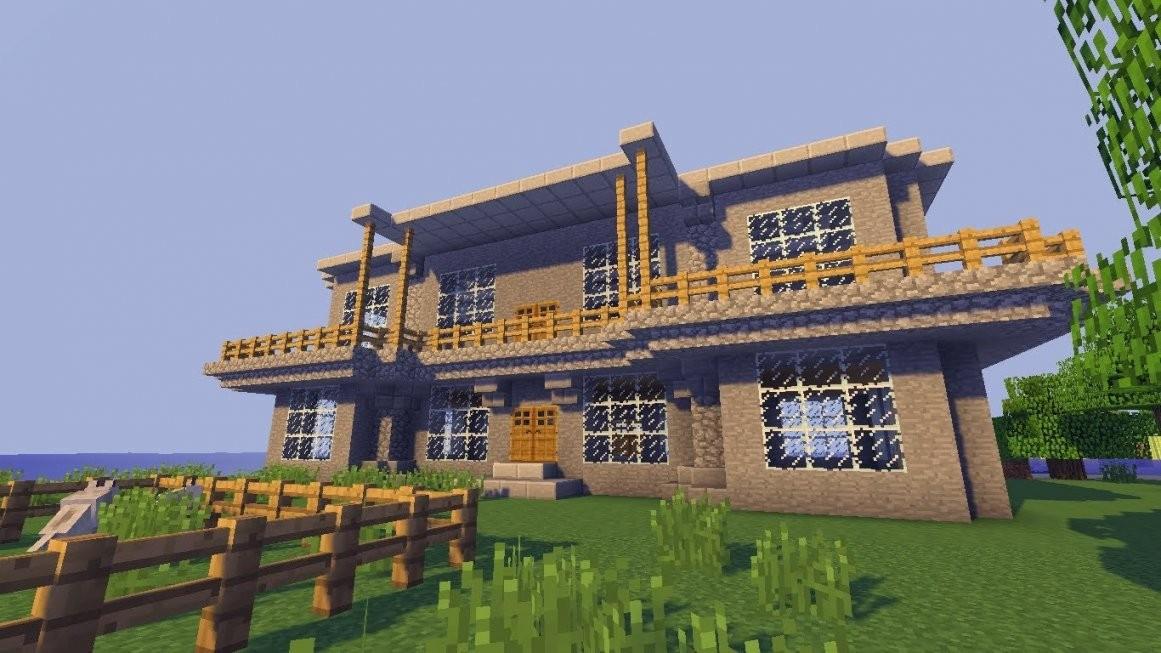 Minecraft Villa Bauen Anleitung Ist Einzigartig Planen Von Haus von Minecraft Häuser Zum Nachbauen Anleitung Bild