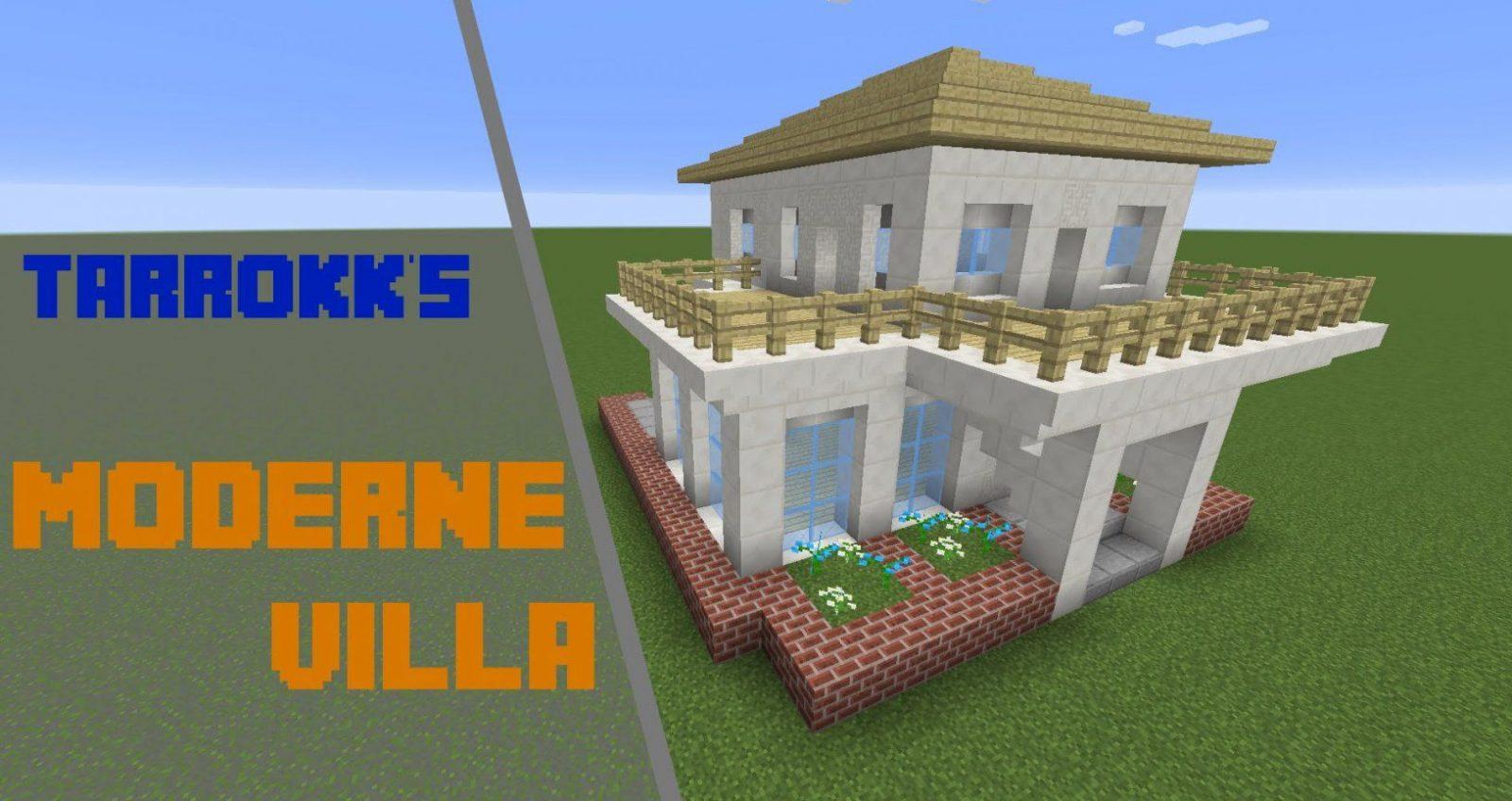 Minecraft Villa Bauplan Ideen Avec Moderne Häuser Minecraft Et von Minecraft Häuser Zum Nachbauen Anleitung Photo