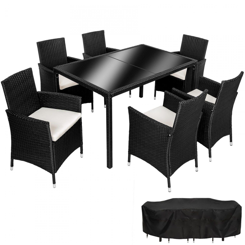 Mit 6 Stühlen Und Überzug von Gartentisch Mit 6 Stühlen Photo