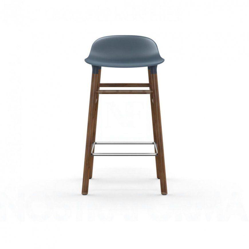 Möbel  Normann Copenhagen Form Barhocker Walnussholzgestell von Tresenhocker 60 Cm Sitzhöhe Bild