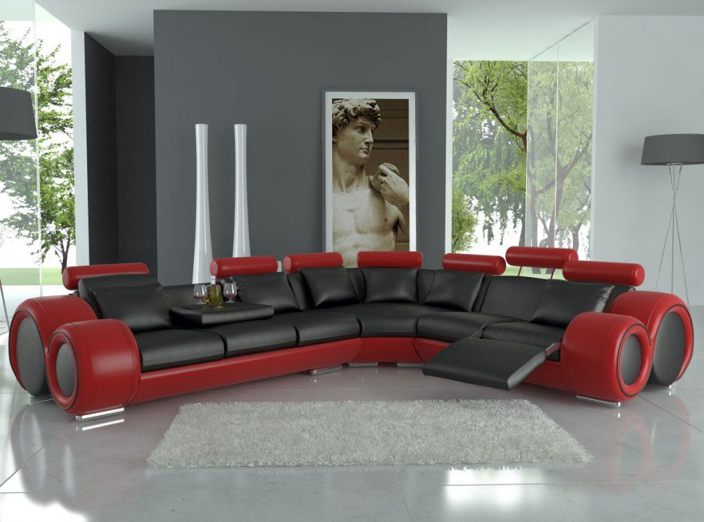 Modern Red And Black Furniture For Living Room American Living Room von Red And Black Furniture Photo