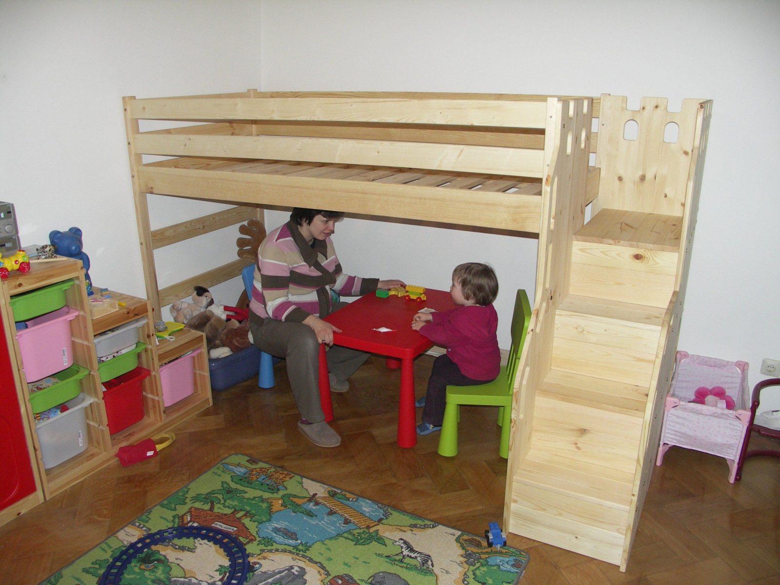 Hochglanz Etagenbett Spielbett Alex Mit Regalen Treppe Und Bettkasten : Hochglanz etagenbett doppelbett alex: 3 personen u2013