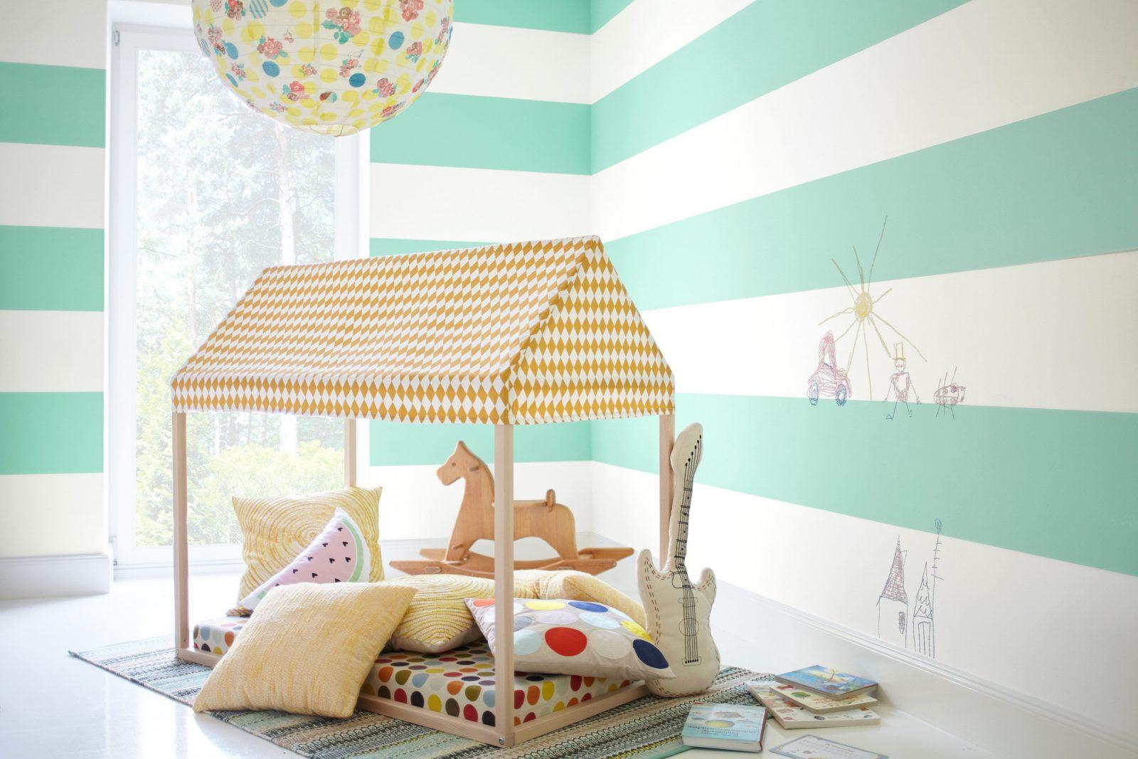 Moderne Dekoration Kinderzimmer Gestalten Avec Wand von Wandgestaltung Kinderzimmer Mit Farbe Photo