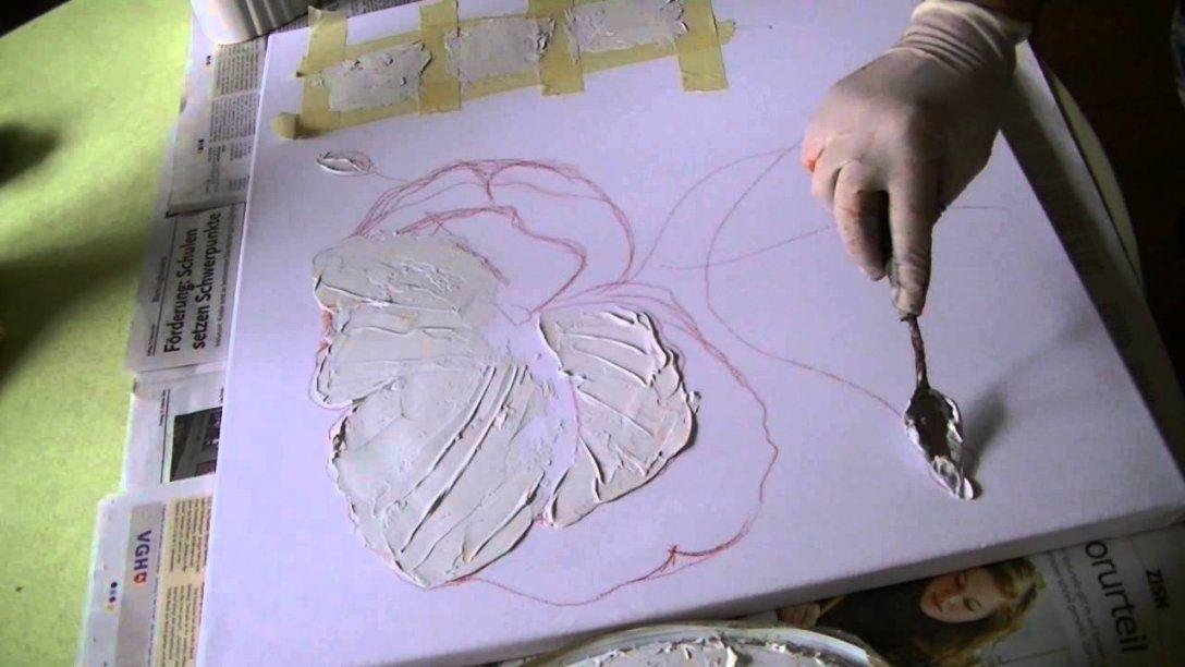 Mohnblüte Malen Lernen Teil1 Poppies Acrylic Painting Demo Part 1 von Acrylbilder Mit Strukturpaste Anleitung Bild